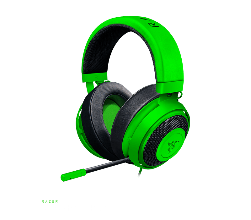 AURICULAR KRAKEN MP WIRED GREEN RAZER